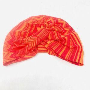 Missoni Mare Striped Knit Hat Turban Cap